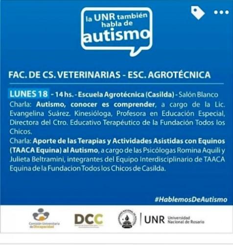 La UNR también habla de autismo