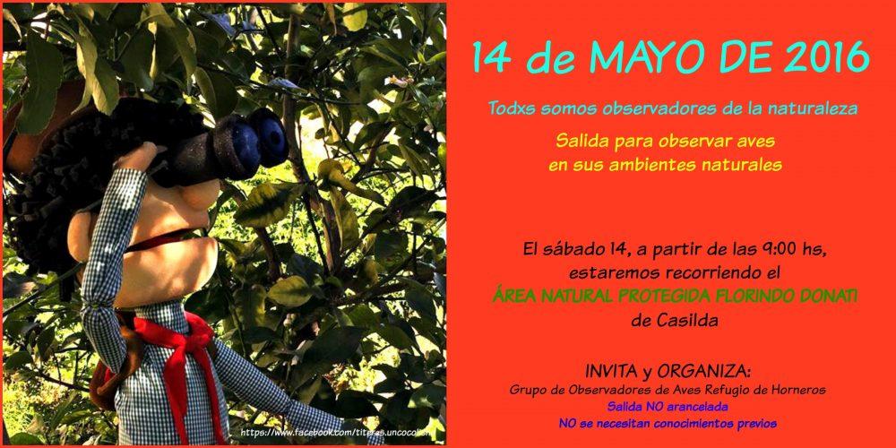 Salgamos a recorrer juntos el Área Natural Protegida Florindo Donati (ANPFD)