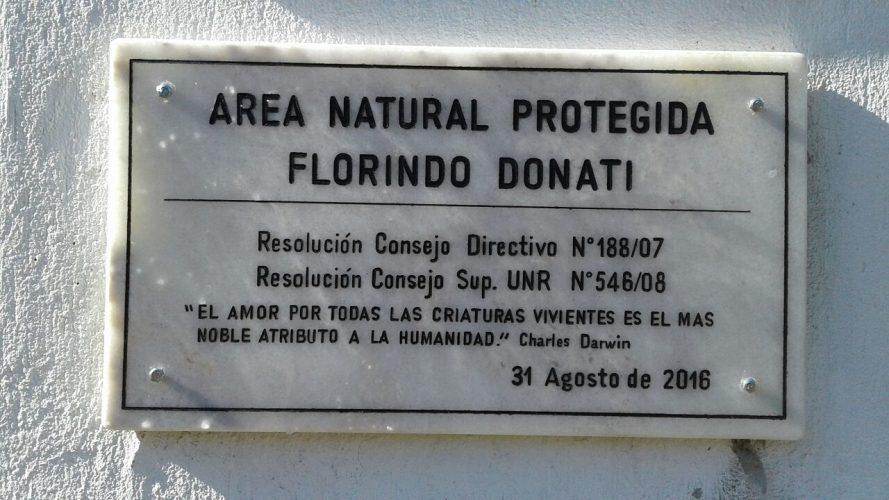 """CELEBRACIÓN DEL DIA DEL ARBOL E INAUGURACIÓN DEL MONOLITO """"AREA NATURAL PROTEGIDA FLORINDO DONATI"""""""