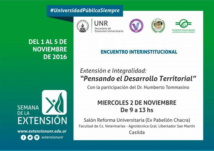 SEMANA DE LA EXTENSIÓN. ENCUENTRO INTERINSTITUCIONAL.