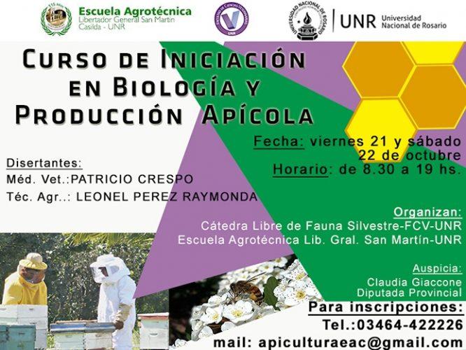 CURSO DE INICIACIÓN EN BIOLOGÍA Y PRODUCCIÓN APÍCOLA