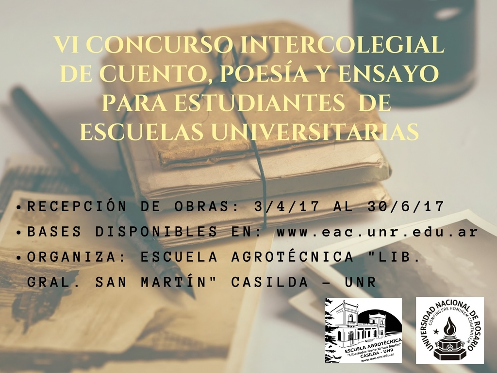VI CONCURSO INTERCOLEGIAL DE CUENTO, POESÍA Y ENSAYO PARA ESTUDIANTES DE ESCUELAS UNIVERSITARIAS