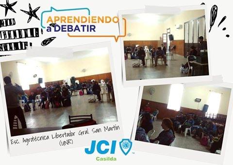 """JCI CASILDA SIGUE """"APRENDIENDO A DEBATIR"""" EN LAS ESCUELAS SECUNDARIAS"""