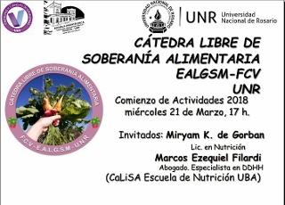 CÁTEDRA LIBRE DE SOBERANÍA ALIMENTARIA. ESCUELA AGROTÉCNICA - FACULTAD DE CIENCIAS VETERINARIAS
