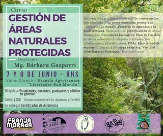 CURSO SOBRE GESTIÓN DE ÁREAS NATURALES PROTEGIDAS. 7 Y 8 DE JUNIO