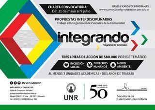 4ta CONVOCATORIA PROGRAMA DE EXTENSIÓN INTEGRANDO