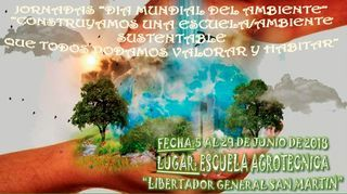 """JORNADAS """"DÍA MUNDIAL DEL AMBIENTE"""""""