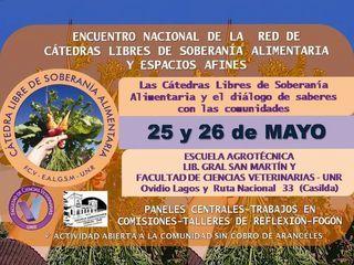 ENCUENTRO NACIONAL DE LA RED DE CÁTEDRAS LIBRES DE SOBERANÍAS ALIMENTARIA (CaLiSA) Y ESPACIOS AFINES 2019