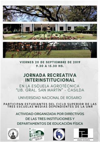 VIERNES 20 SETIEMBRE, JORNADA RECREATIVA INTERINSTITUCIONAL EN LA ESCUELA
