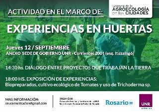 DOCENTES RESPONSABLES DEL  ÁREA DE EXTENSIÓN DE LA ESCUELA PARTICIPARON DE UNA JORNADA SOBRE HUERTAS AGROECOLÓGICAS