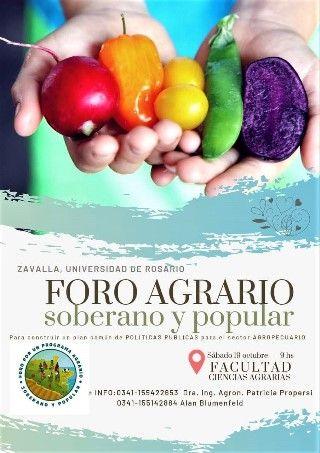 PARTICIPACIÓN DE LA CÁTEDRA LIBRE DE SOBERANÍA ALIMENTARIA EN EL PRIMER FORO AGRARIO SOBERANO Y POPULAR