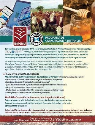 PROGRAMA DE CAPACITACIÓN A DISTANCIA. Para Estudiantes y Egresados de la Escuela Agrotécnica