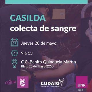 COLECTA DE SANGRE EN CASILDA - DIRECCIÓN DE SALUD - UNR