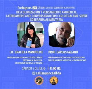 CÁTEDRA LIBRE DE SOBERANÍA ALIMENTARIA: OCTAVO ENCUENTRO, 4 DE JULIO.