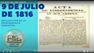 9 DE JULIO DE 2020: CELEBRAMOS EL DÍA DE LA INDEPENDENCIA.