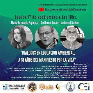 """SE DESARROLLÓ EL SEGUNDO ENCUENTRO DE """"DIÁLOGOS EN EDUCACIÓN AMBIENTAL, A 18 AÑOS DEL MANIFIESTO POR LA VIDA"""", ORGANIZADO POR LA CaLiSA."""