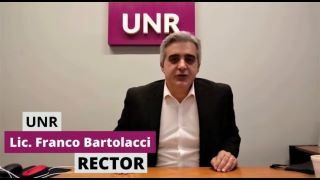SALUDO DEL SR. RECTOR DE LA UNIVERSIDAD NACIONAL DE ROSARIO, LIC. FRANCO BARTOLACCI, EN HOMENAJE AL 120° ANIVERSARIO DE LA ESCUELA AGROTÉCNICA DE CASILDA